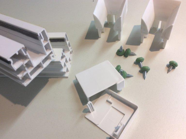 pvc rollladenf hrung set mehrteilig 40x47 m s bauelemente. Black Bedroom Furniture Sets. Home Design Ideas