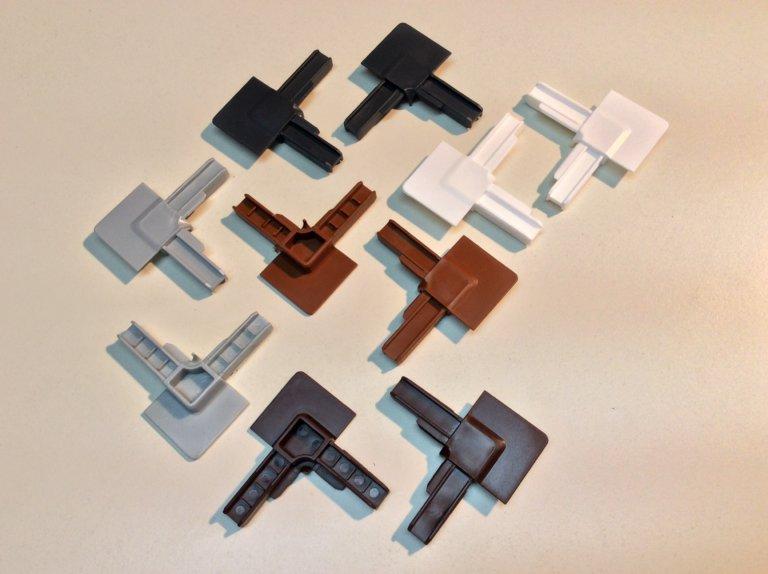 kunststoff eckprofile f r insektenschutzrahmen 4er set 5 farben m s bauelemente. Black Bedroom Furniture Sets. Home Design Ideas