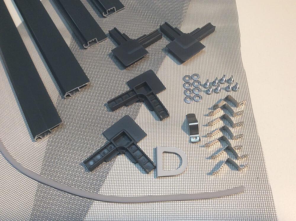Bausatz Insektenschutz Rahmen Fliegengitter DELUXE für Fenster ANTHRAZIT 1 Set