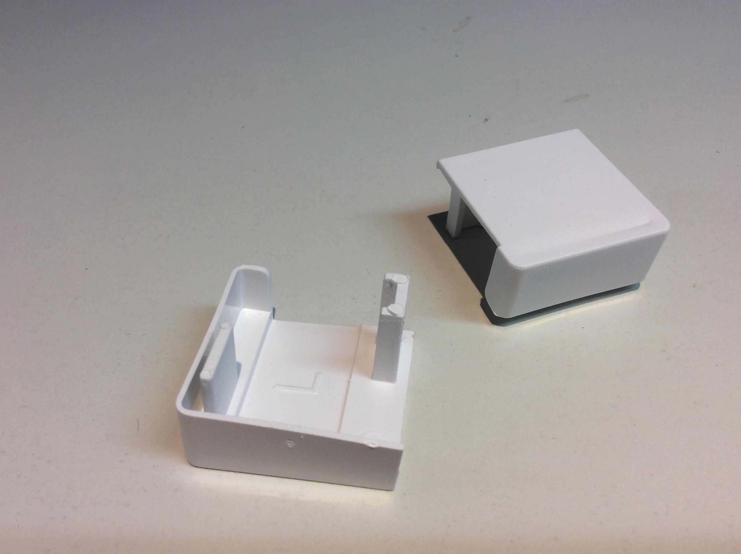 – weiß Einlauftrichter für Rollladenführung 30 x 32mm Paar