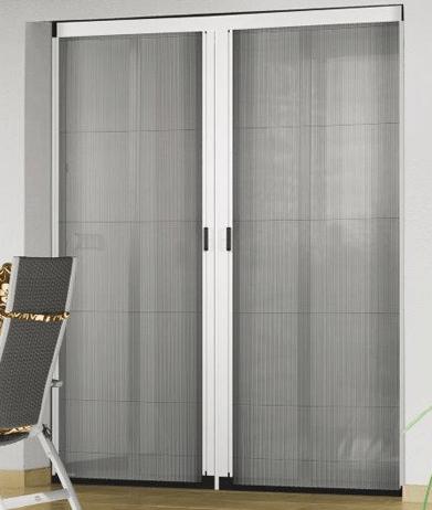 Beliebt DUO Insektenschutz Plissee Tür (2-teilig) in 5 Farben für Terrasse KK92
